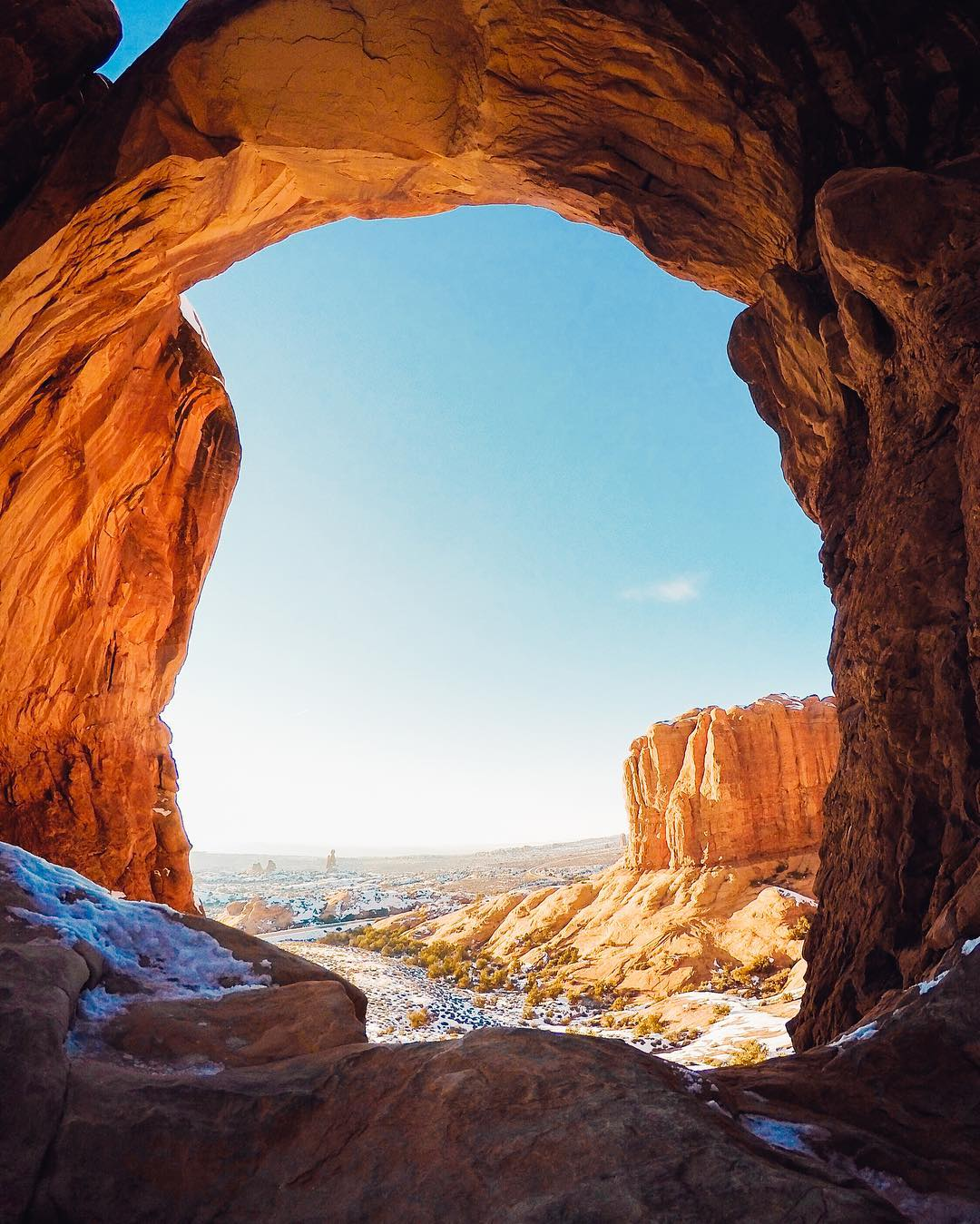 Rise and shine at @archesnps with @josh_malech! Try turning your #GoPro vertical for a long, taller shot like this. Give it a shot and share your best with us via #GoProAwards link in our bio. #GoProTravel