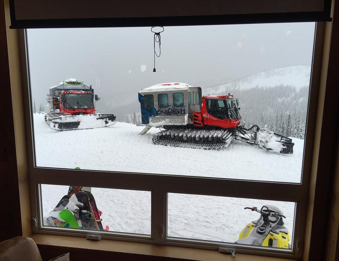 Morning coffee-drinking-by-the-fire view. #powderparadise #BaldfaceLodge