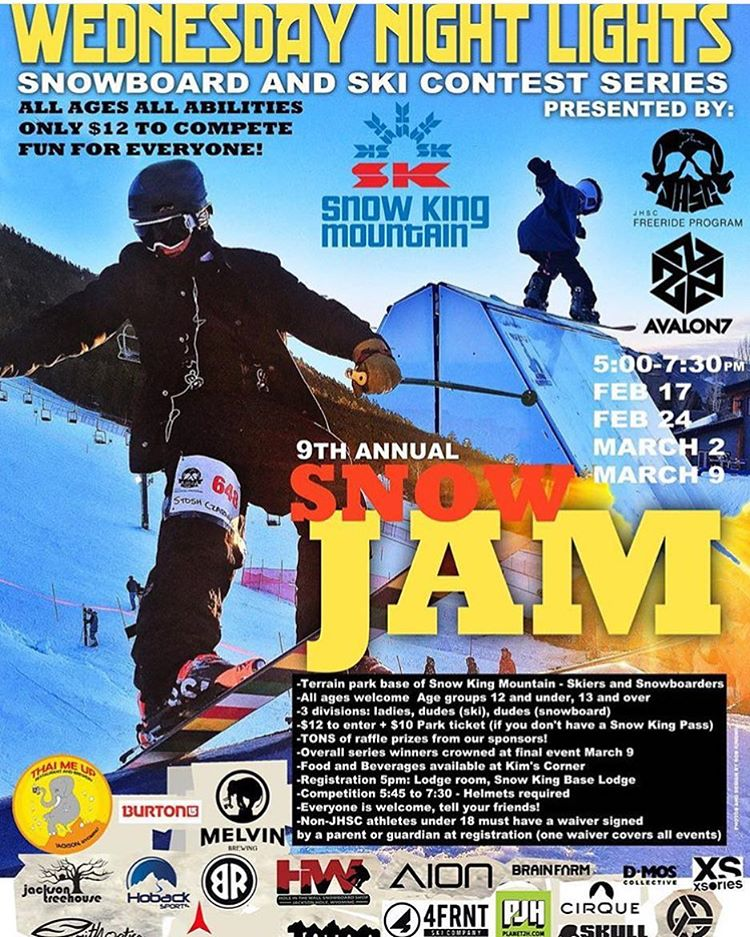 Let the battle for the Champions Cup begin! #WNL16 starts tonight at @snowkingresort, vome out and shred with us! This is the 9th year, with 4 super fun comps coming up the next 4 Wednesdays at 5pm. #avalon7 #liveactivated #snowboarding #skiing #jhlife...
