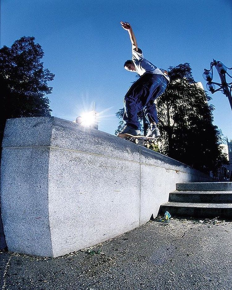 @dgkalis put down some of the most memorable moments in the fabled history of Philadelphia's Love Park. Fakie 5-0, 1999. Photo: @blabacphoto #LastDaysOfLove #JoshKalis #DCShoes