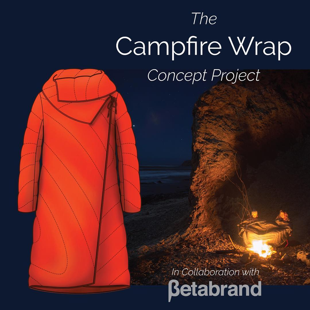 Check out this collab with our friends @betabrand_hq for The Campfire Wrap! Little Red Riding Hood is all grown up and 10x more badass. Vote for it on their Think Tank and help us get this puppy made! Link in bio.
