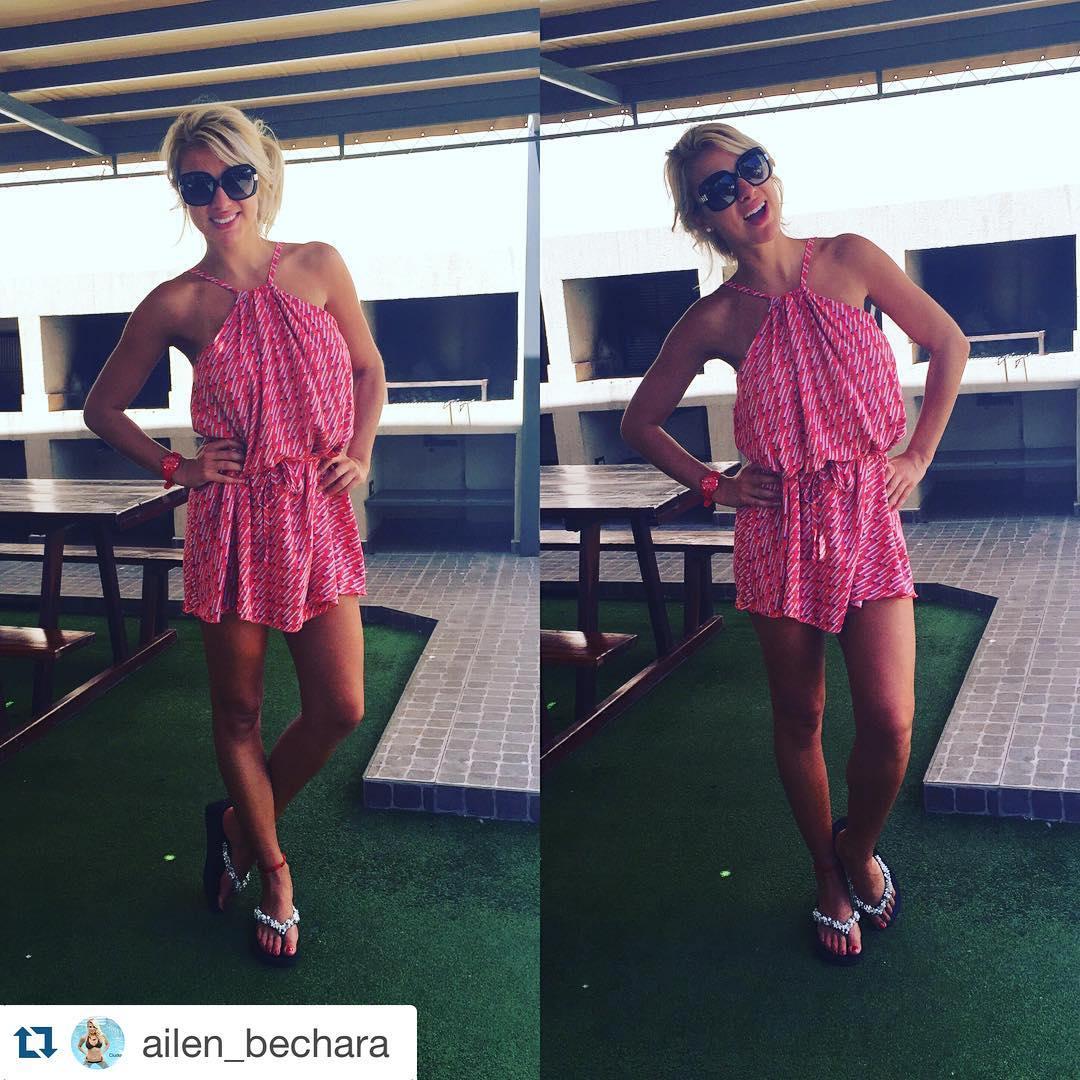 #Repost @ailen_bechara with @repostapp. ・・・ El asado del domingo !!! Con mi vestido @babrodery reloj @rubberchic