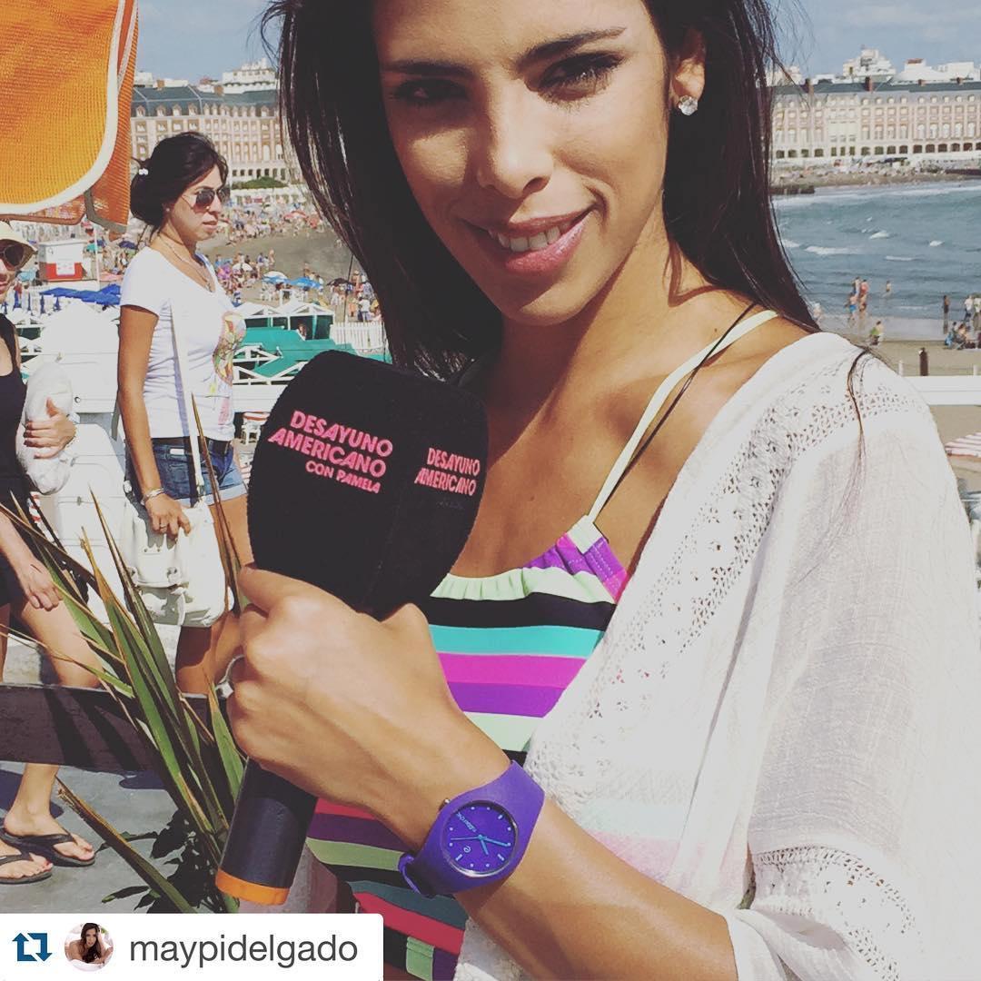 @maypidelgado en #mardelplata con su#Sense #waterproof #slim #fashion #trendy