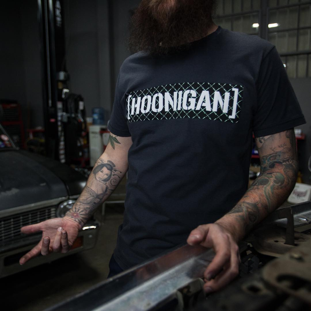 Hands dirty but that tee clean. The UV C-bar is back and available at @zumiez and on #hooniganDOTcom.