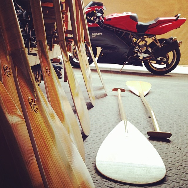 Work hard, play hard! From inside the shop. #woodpaddlesfordays #humblescooter #smilesformiles