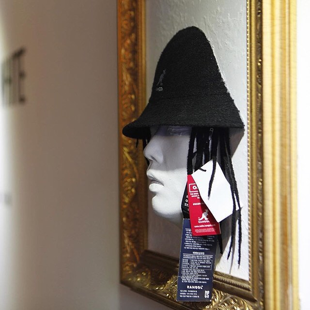 Black & White Exhibit at #kangol_hongdae #kangol via @kangolkorea