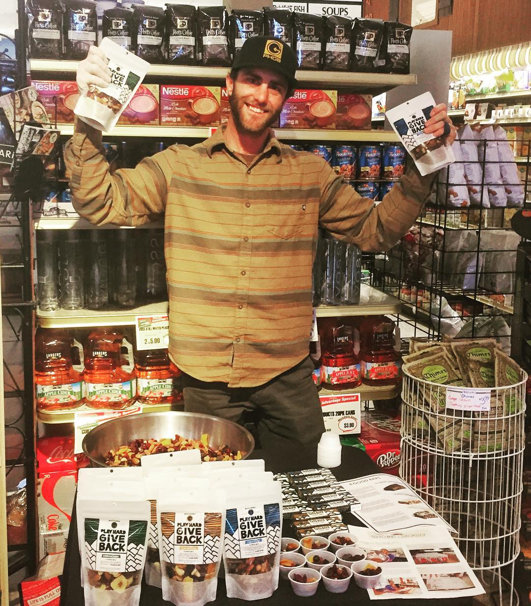 We'll be handing out free samples at @atkinsonsmarket in Ketchum until 6:00 today. Make sure to drop by to try our goodies and learn more about our mission!
