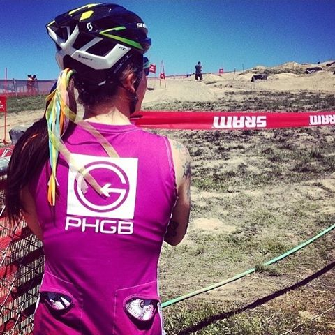 Throwback to @superacingurl scoping out the dual slalom course at #seaotterclassic in her @clubrideapparel & PHGB apparel!! #tbt