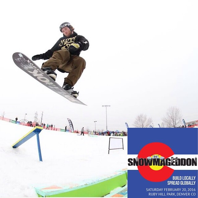 Cody Potter ( @camocody ) destroyed it at last years Snowmageddeon Session at Ruby Hill. Join us this Saturday, Feb 20th from 12-6 for some shred, ski, music and art in the park for round 2 ~⚡️~ (