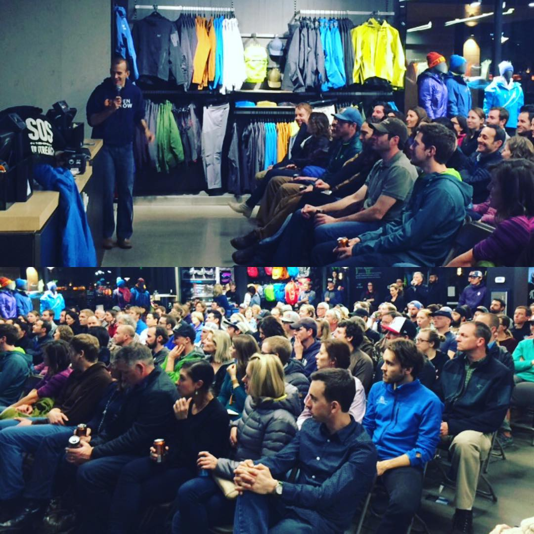 THX to @arcteryx Cherry Creek for hosting such an amazing event last night! Our friend Joel from @findopensnow taught us about chasing #pow throughout CO. Mad #love to our friends at @averybrewingco @sims_snowboards @dragonalliance for your...