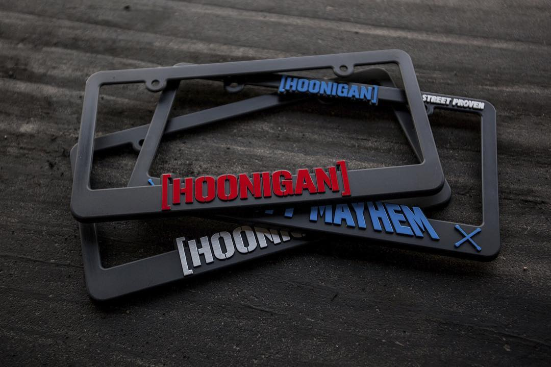 Did you know we have a full line of license plate frames? Check em at #hooniganDOTcom.