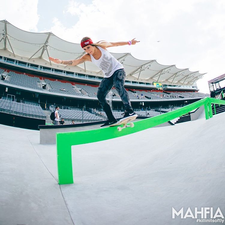 We're skating with three-time gold medalist @LeticiaBufoni in LA!  Check her out on Snapchat