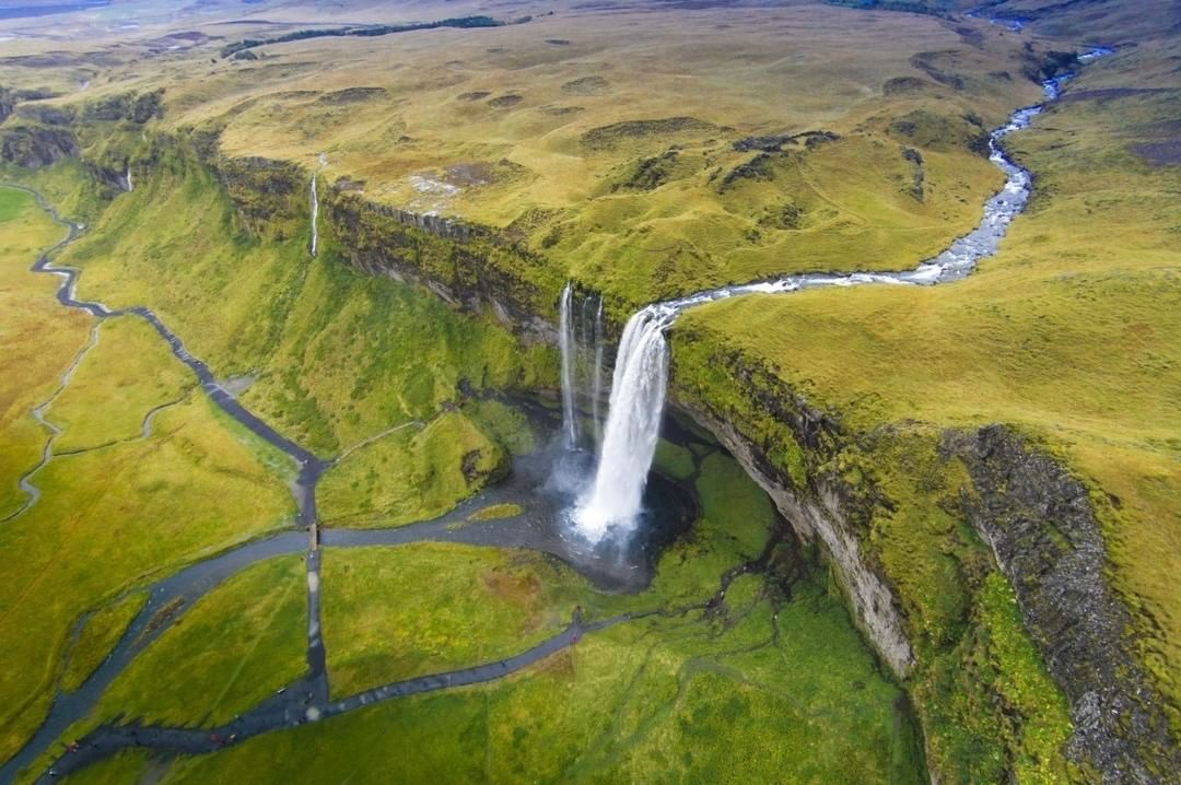 Seljalandsfoss Waterfall  Credit: 云 风 | #DJI #Iceland  Use #IamDJI to share your aerial creations with us!