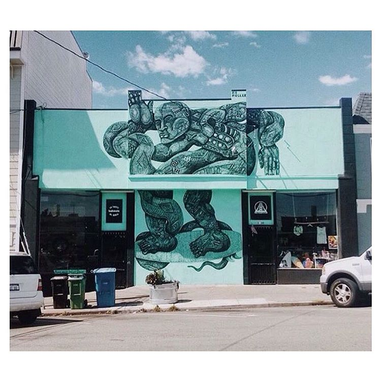 In SF? Come visit us in the Outer Sunset on Noriega Street & see this @zioziegler mural up close!