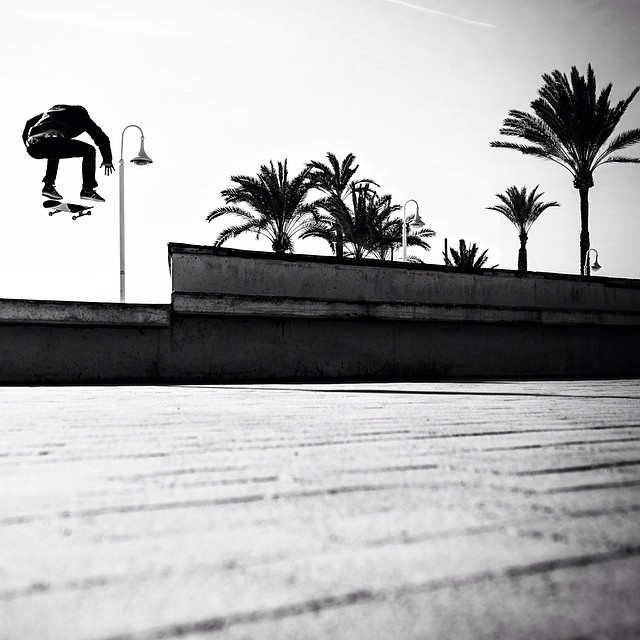 Skate outta Mallorca. @vladikscholz #skate #skateboard