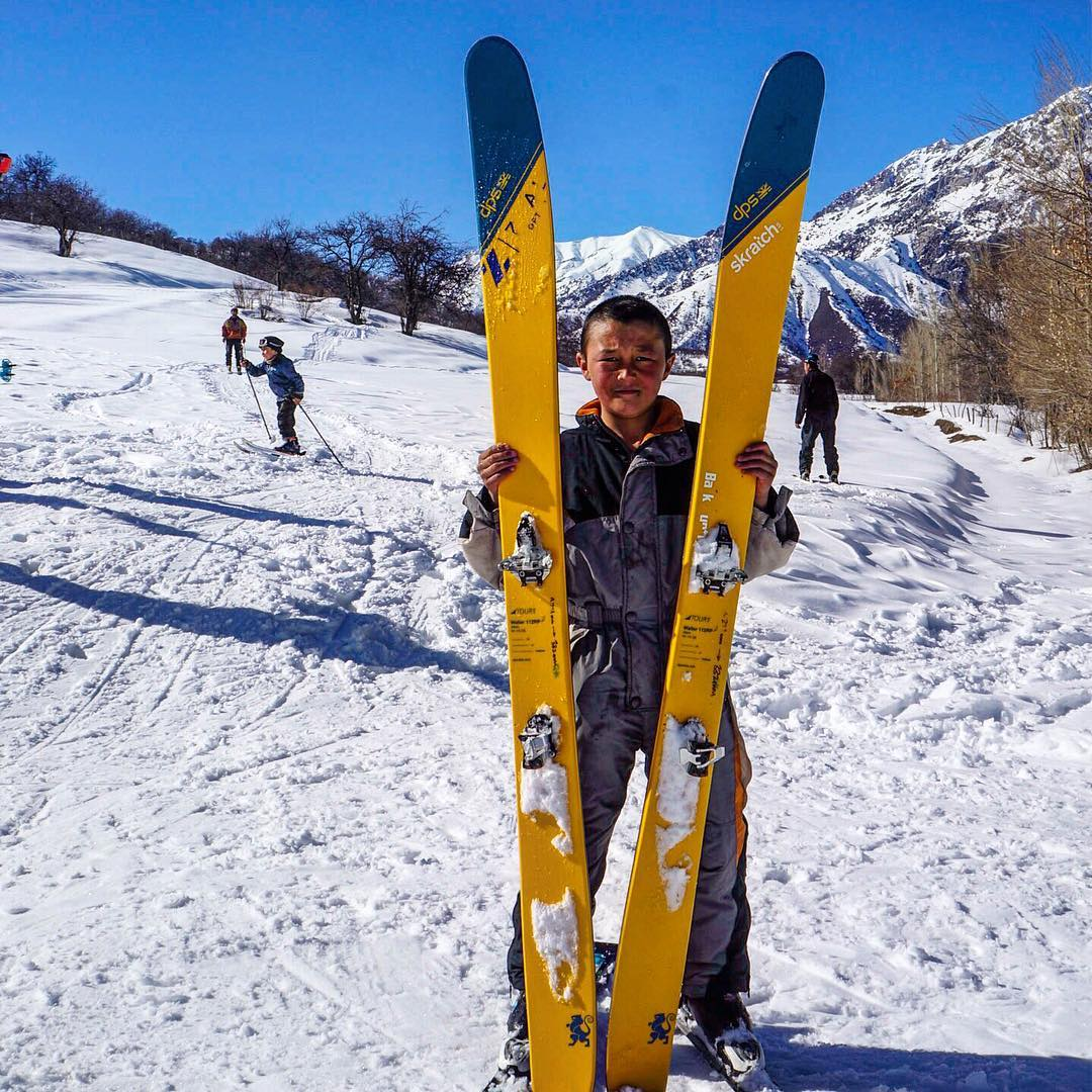 "DPS Ambassador Donny Roth @independentdescents snapped this picture while filming in a small southern village of Kyrgyzstan today. ""This is Ruslan. He's 12. He rips. I mean, he really skis well. He's never ridden a lift or been to a resort but he skis..."