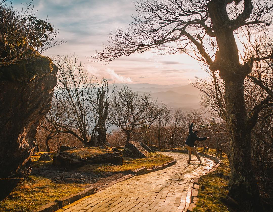 Setting out on an expedition into the unknown, @alexmckenzie180 skates along in curiosity for what's to come. Get out and explore this weekend and follow your #yellowbrickroad.