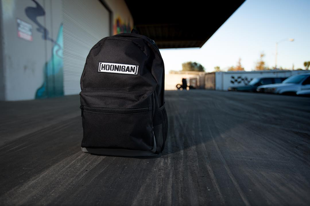 For all your track day and everyday essentials, the Standard Issue back pack. Available on #hooniganDOTcom.