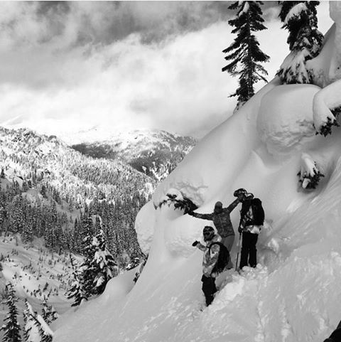 a #ROXYSneakPeek of these three powderhounds shooting in #Whistler this week #regram #ROXYsnow