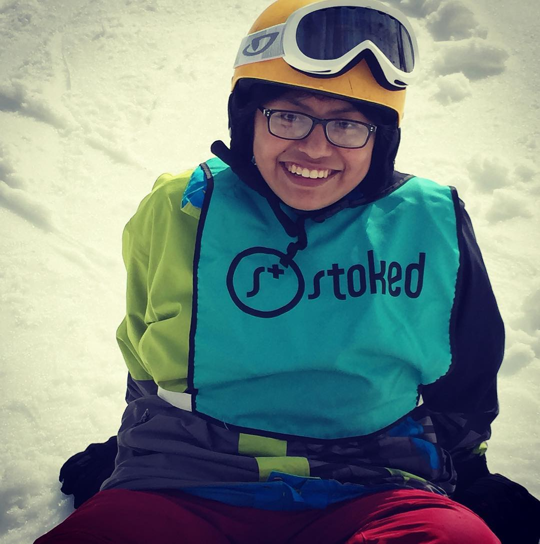 Stoked in the snow at @snow_summit! @stoked_la
