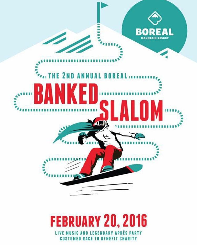 It's about to go down!! @borealmtn #bankedslalom