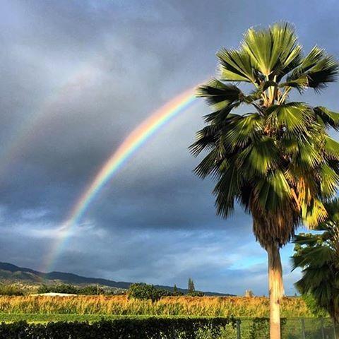 Y despues de la tormenta... El #rainbow de la #felicidad