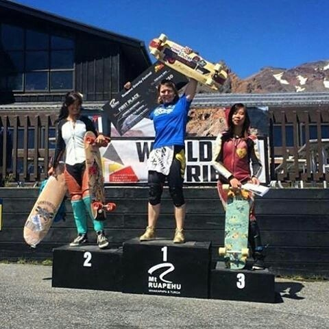 Huge Holesom props @emilylongboards #smellsgood  #keepitholesom @Regrann from @gformprotects -  huge congrats to #gform team rider @emilylongboards for winning her second @idfracing Women's Division Race. She took first at both #MtRuapehu and #MtKeira,...
