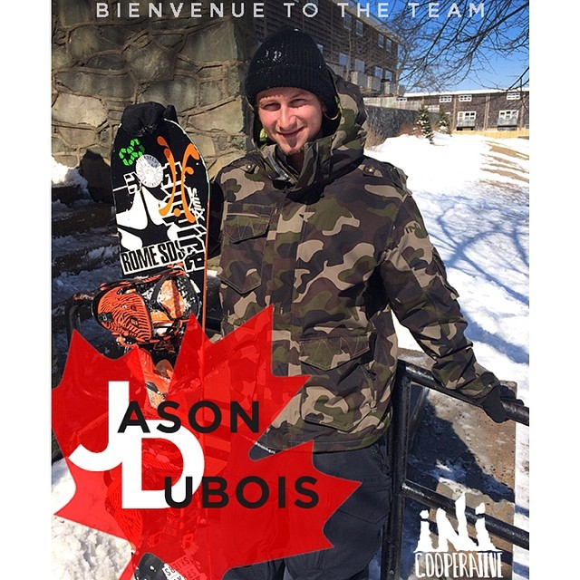 Stoked to welcome our newest addition to our international #Snowboard team, @jasondubois . #Bienvenue #Quebec @thinkempire @ifound__ @romesnowboards