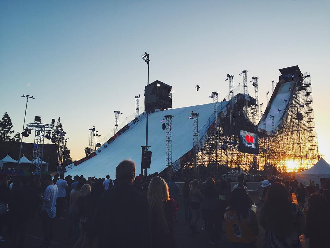 We're having an amazing time at @airandstyle #LosAngeles today! Snowboarding, music, art & more. Our educational booth is active tonight and all day again tomorrow. Come find us in the village. Big Air is going down now! #AirandStyle #BeHealthyGetActive
