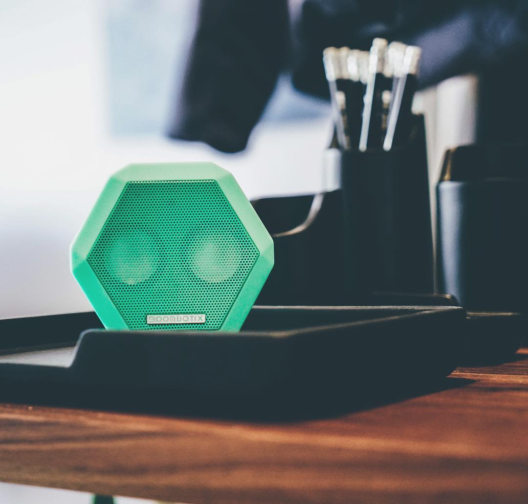 Workstation essentials.  #Boombotix  #portablespeaker #bluetoothspeaker #essential #audiophile #design