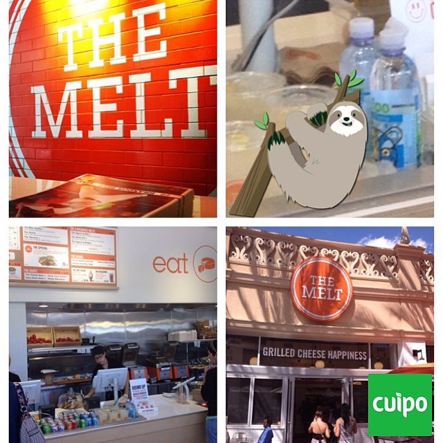 Spend your #meatlessmonday with a delicious grilled cheese from @themelt and pick up a bottle of Cuipo water to wash it down. #cuipo #saverainforest every CUIPO product saves rainforest. #grilledcheese #themelt