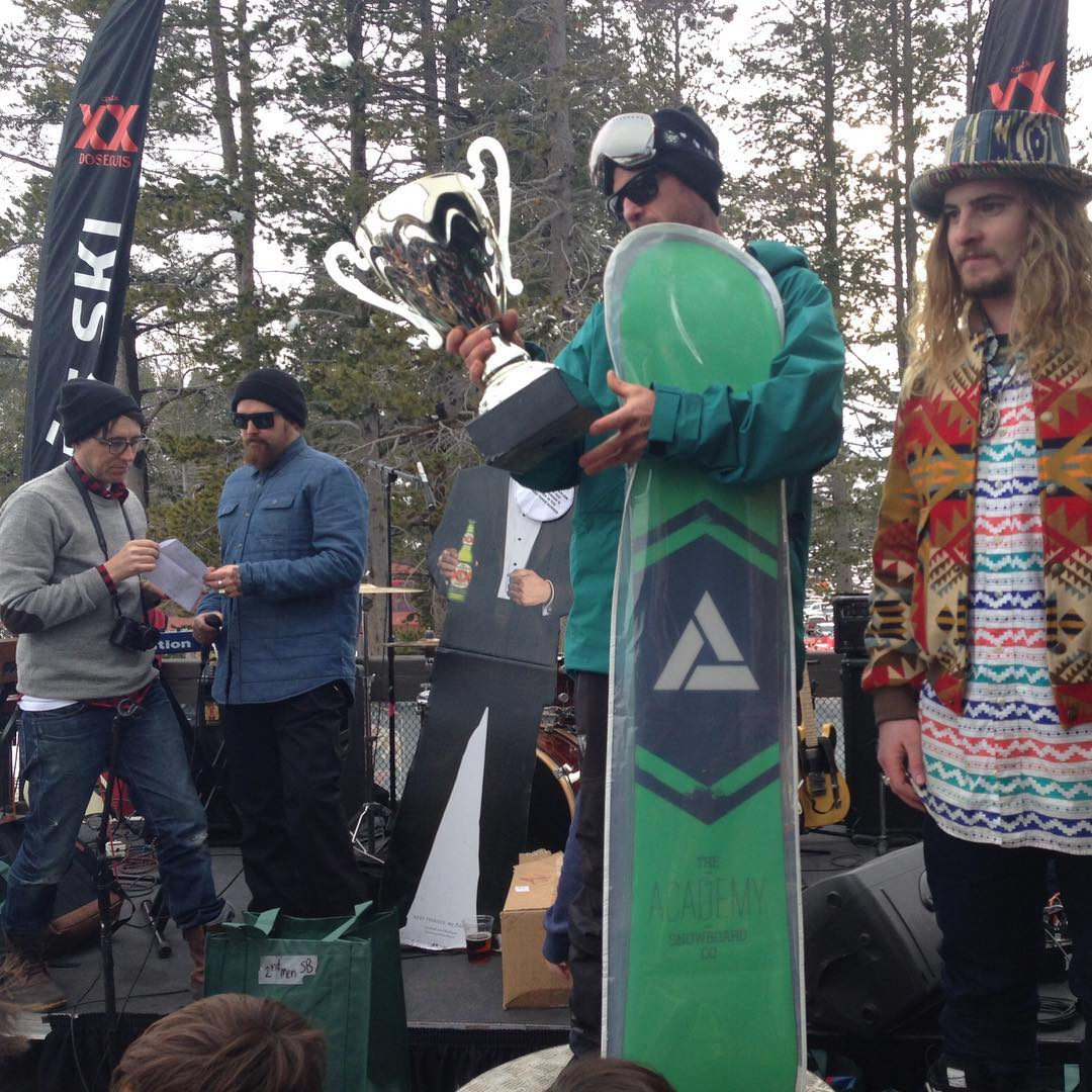 The winner of the 2nd Annual @borealmtn Banked Slalom, OG Chris Roach!