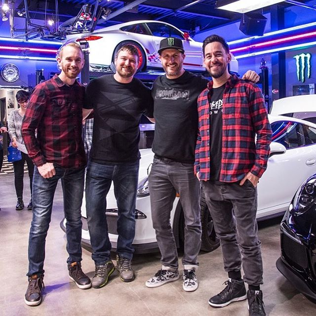 Good times last night with some good peoples here in Park City. Formula D drivers @ChrisForsberg64 and @VaughnGittinJr on my right, and longtime friend, the very talented Mr. Mike Shinoda of Linkin Park (@M_Shinoda) on my left. Dinner at Billy Blanco's...