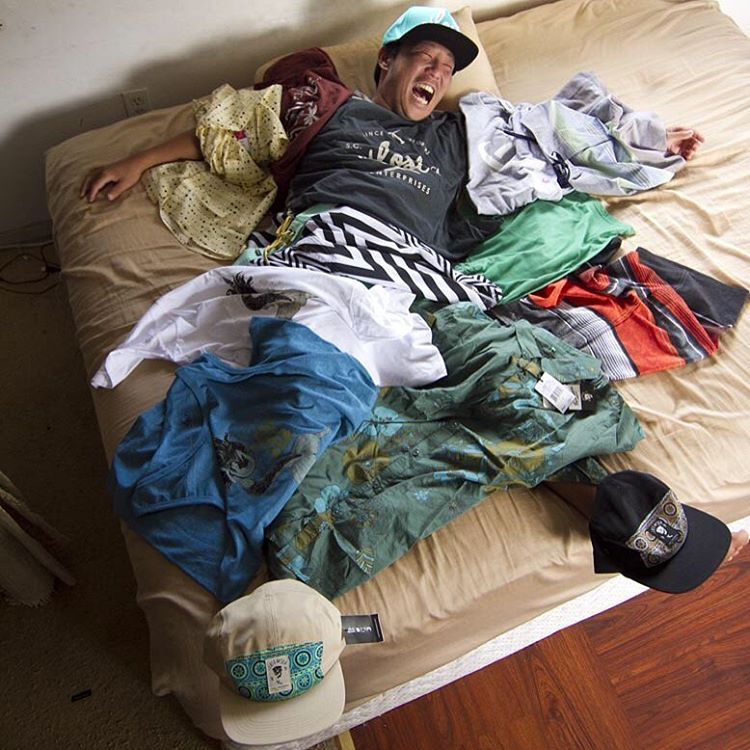 @burgerinparadise ecstatic he didn't even have to get out of bed to do our Spring '16 clothing shoot. New ...Lost clothing hitting stores now. #lostclothing