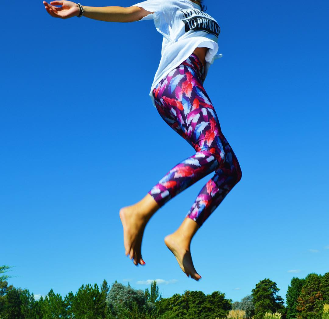 Those who don't jump will never fly ☀️ Legging Indie