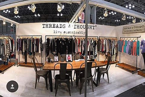 All set up & ready for the show! We'll be at the Javits Center starting tomorrow for Coterie. Come check out our booth, #7222! #coterie #fashion #tradeshows  #livesustainably