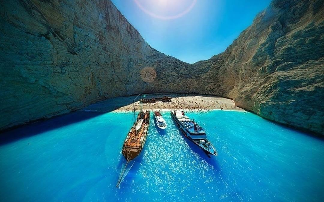Navagio Beach ⚓  Credit: Steve & Rose | #Phantom #Greece  Use #IamDJI to share your aerial creations with us!