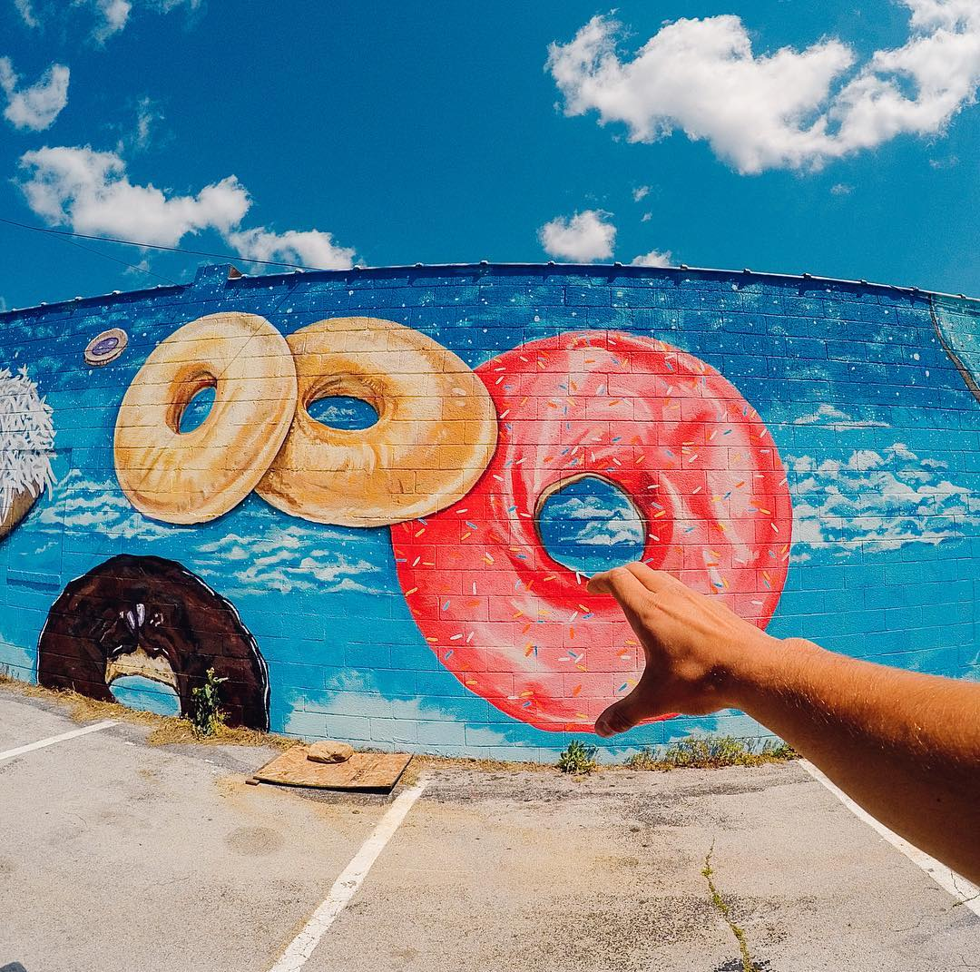 Have a sweet start to your week! Hard to beat Monday morning #donuts. Image via Aleksandar Petrovic. Share your mornings with us via #GoProAwards link in our bio. #GoPro #
