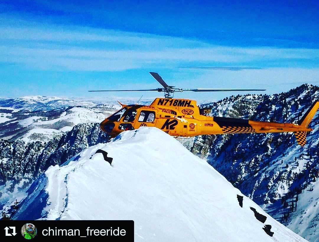 #heliski & #powder time para este groso team rider • @chiman_freeride winter season in #vail ✌