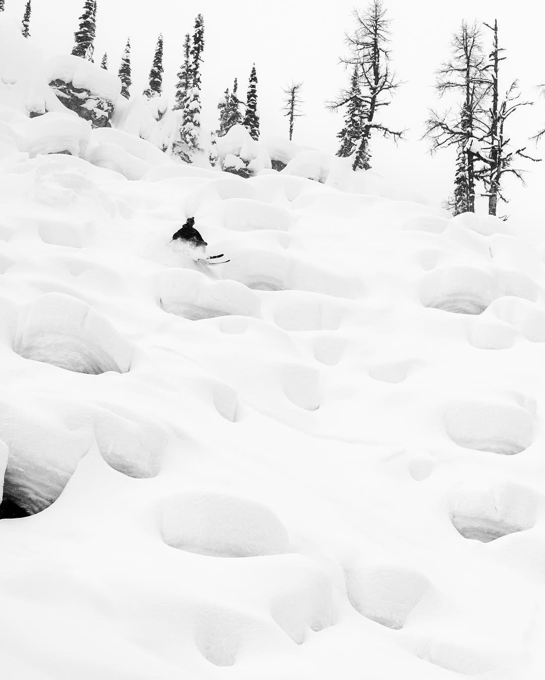 Pillows for days.  Skier: @johnwellsski PC: Seth Holton  #embracethestorm | #flylowgear