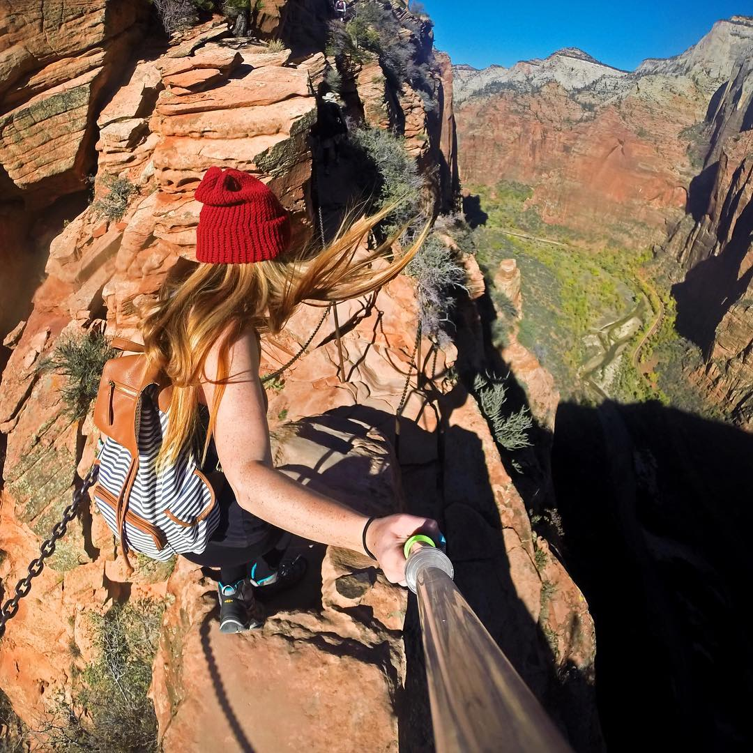 """Angels Landing is a paradise for adrenaline junkies. Felt good to finally check it off the bucket list."" Photo: @fly_with_jenna GoPro HERO4 