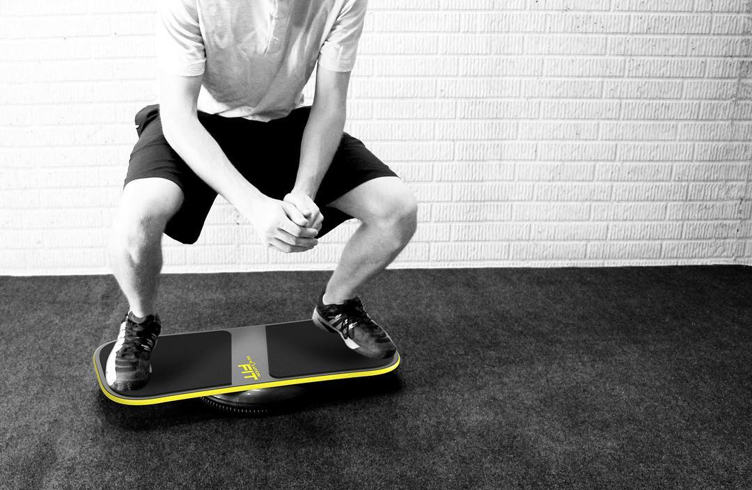 Follow @revbalance_fitness for balance board workout tips