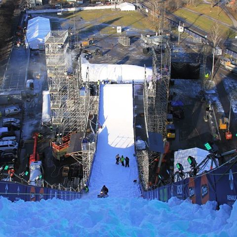 Our 150-foot tall Big Air ramp is enormous! #XGamesOslo
