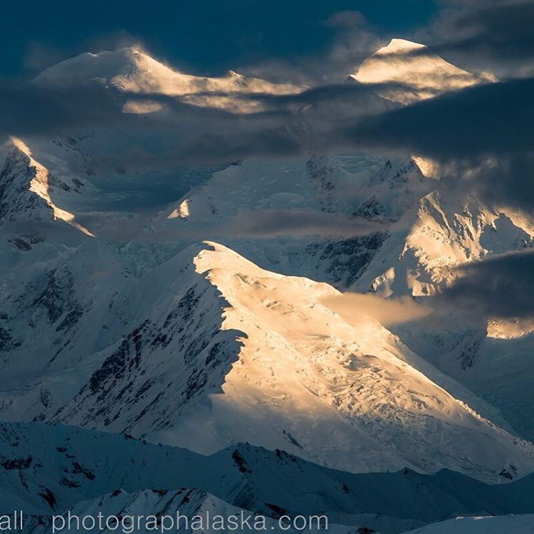 Clearing storm over Denali, @denalinps. Shot from the east in late June around midnight by Carl Battreall @photographalaska. Protect your favorite peaks by joining #ASCSnowandIce. #alaskarange #mountaincrushmonday