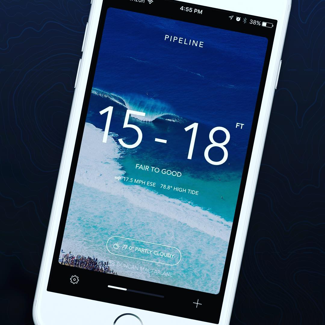 The Billabong Surf Report App- Available for Free in the App Store now.