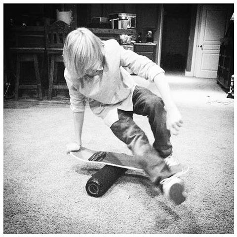 Hayden showing some skills