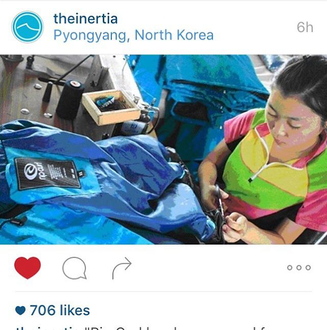 #NorthKorean Labor Edition: Whoa RipCurl...you might want to talk to @patagonia about their #FootPrint #Chronicles project