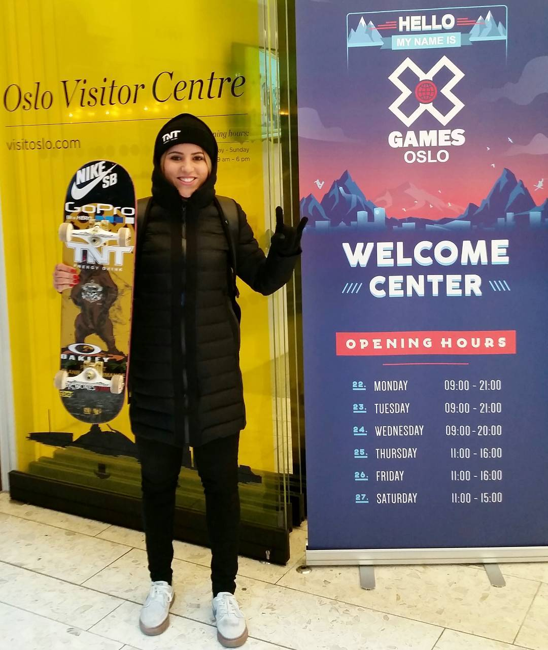 Three-time gold medalist @LeticiaBufoni has arrived at #XGamesOslo!