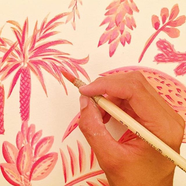 Good morning // Pink palms by the creative hand of @bajo_luna #AllSwell