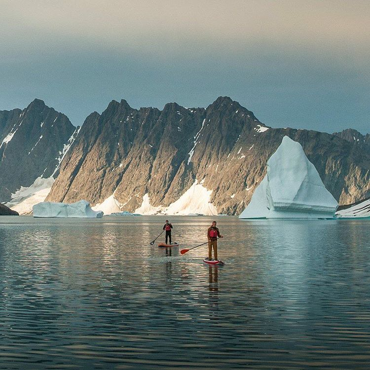@auroraarktika out for on evening paddle in Greenland. #halagear #adventuredesigned #isup #inflatable #standuppaddle #paddleboard #greenland #paddle #sup